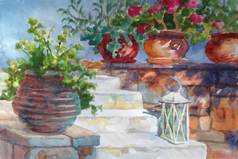 """Sunlit Stone Wall"" original fine art by Erin Dertner"