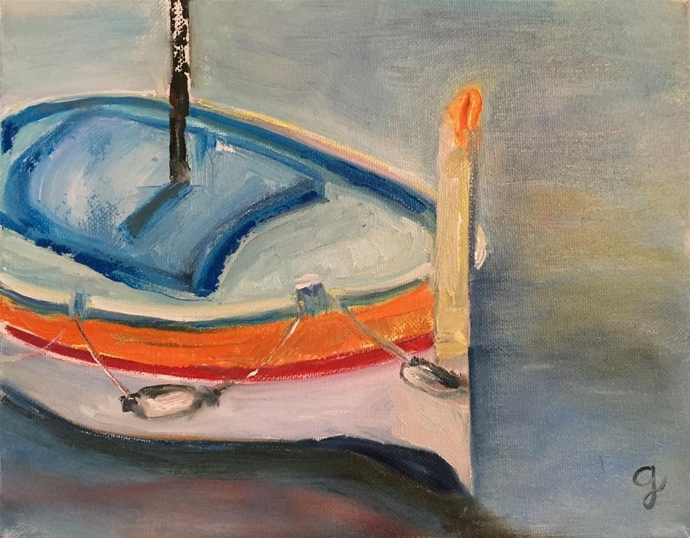 """Untied"" original fine art by Gayle Lambeth"