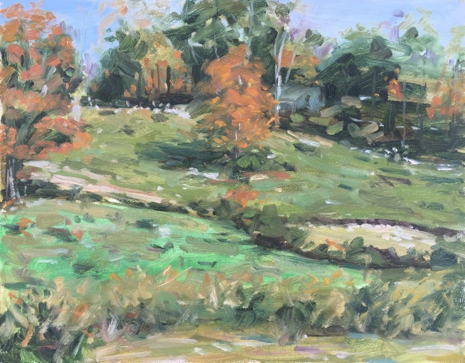 """Autumn Hillside"" original fine art by Danny O'Leary"