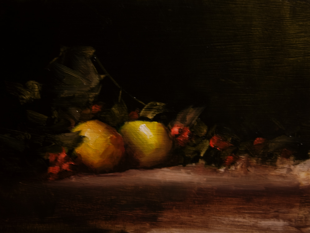 """""""Windfall Apples"""" original fine art by Neil Carroll"""
