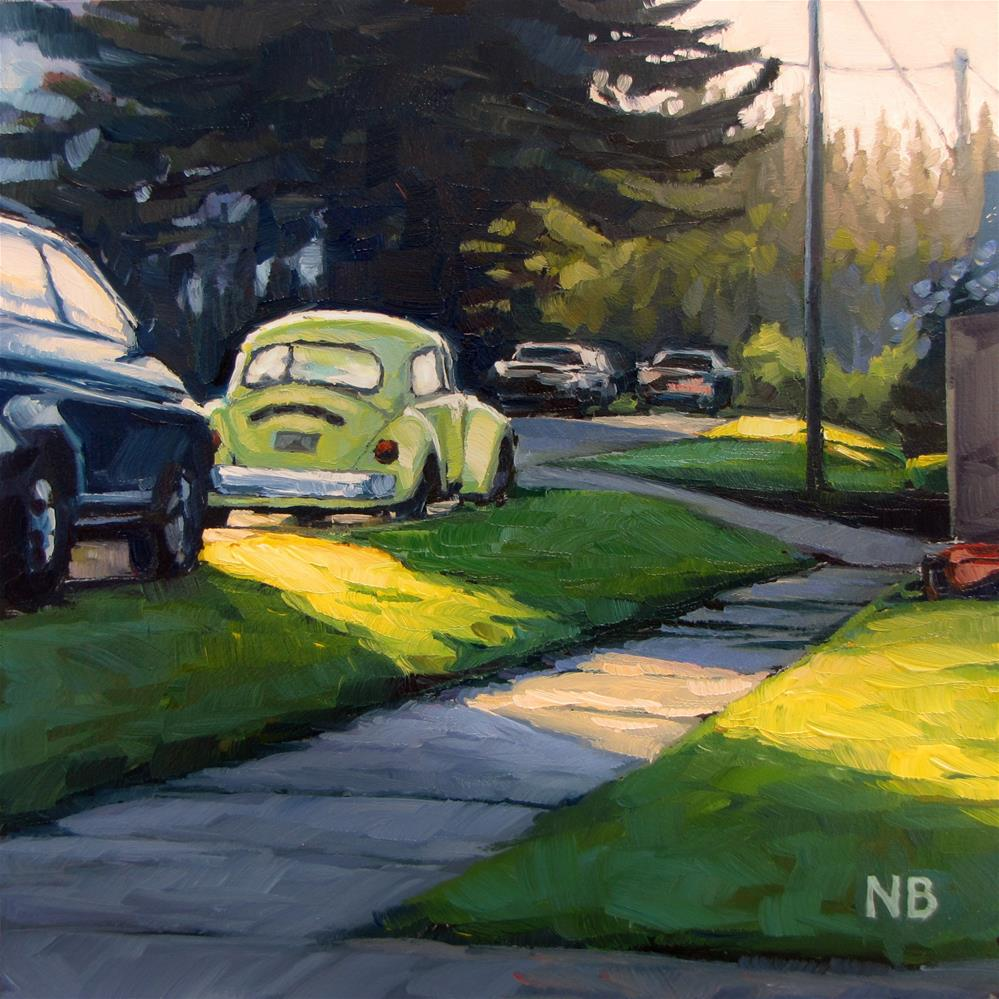 """Yellow Bug Light"" original fine art by Nora Bergman"