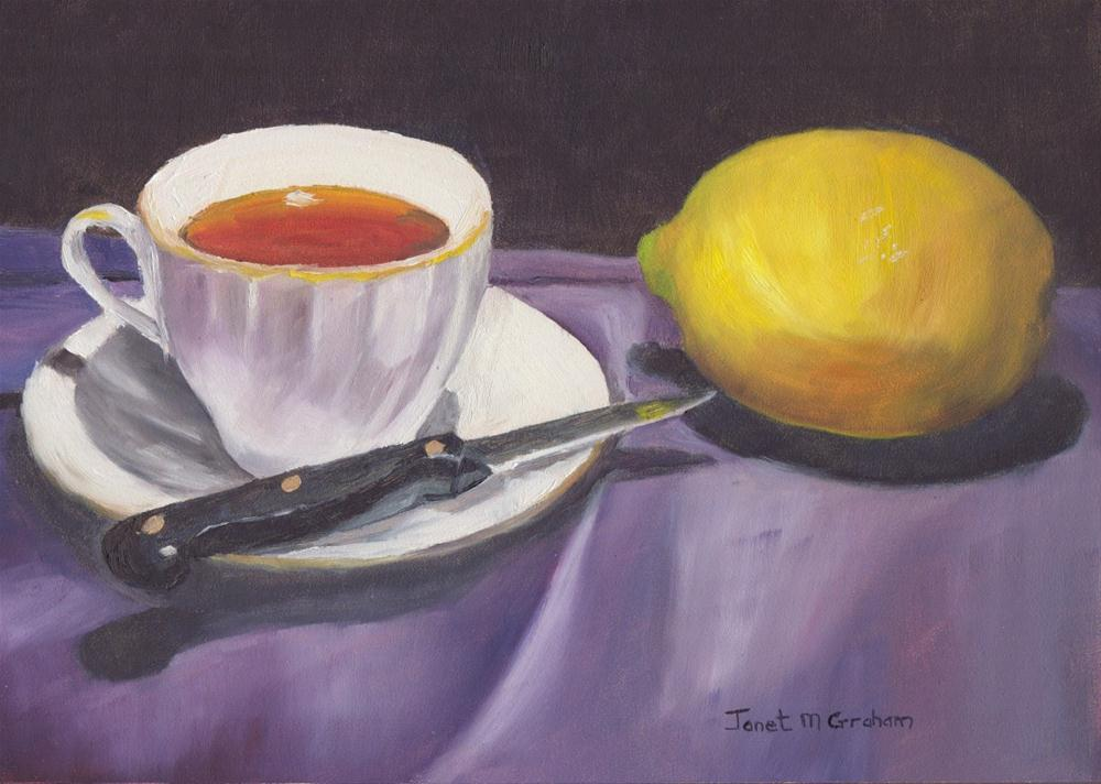 """Lemon Tea"" original fine art by Janet Graham"