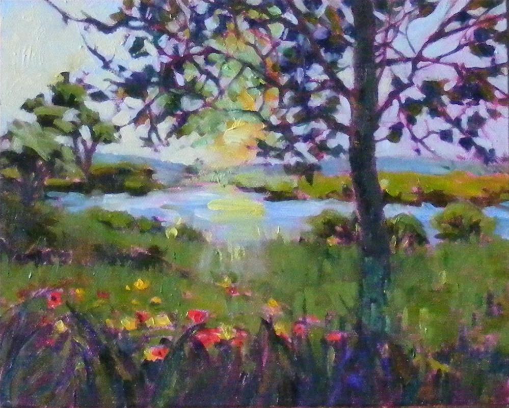 """""""Before sundown"""" original fine art by Celine K.  Yong"""