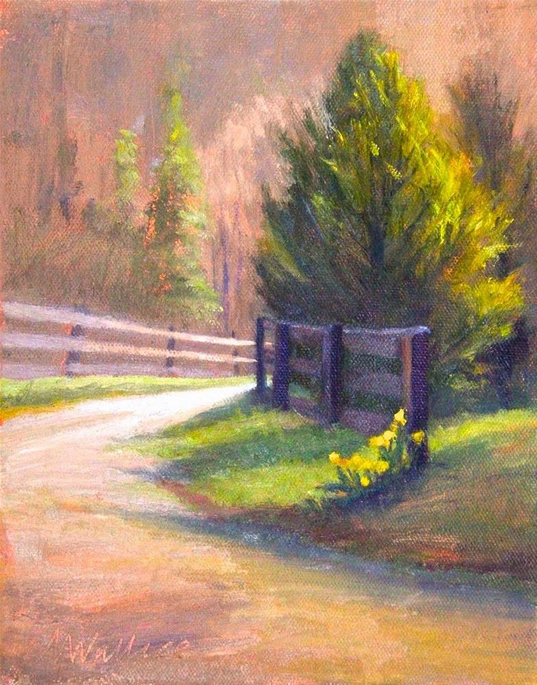 """#40 Last daffodils"" original fine art by Nancy Wallace"