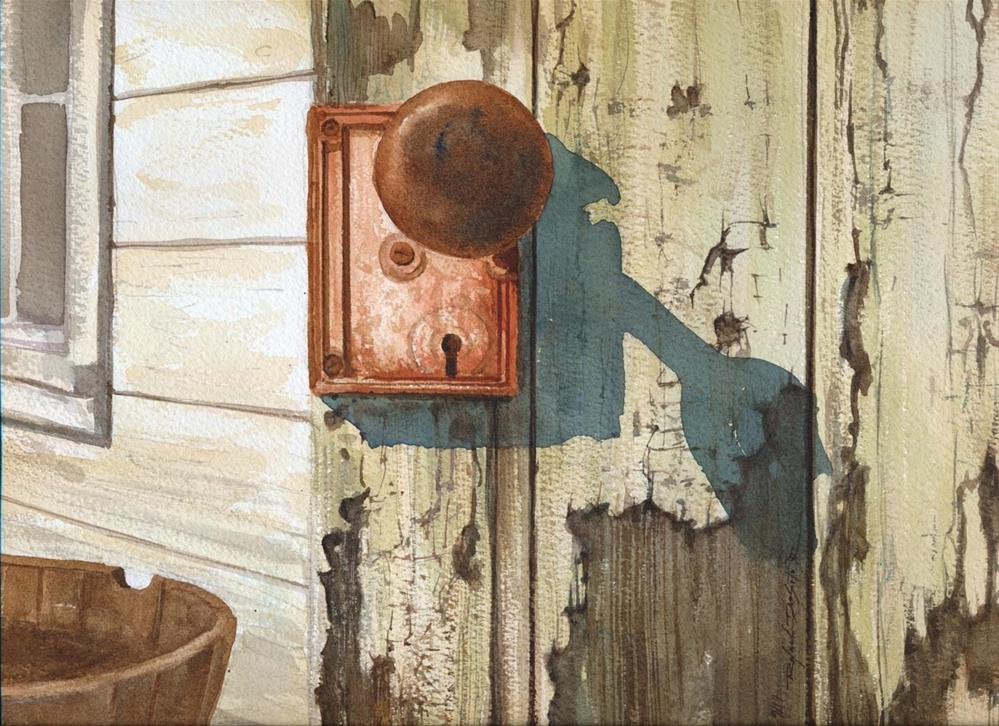 """""""Door Knob Shadow"""" original fine art by Rafael DeSoto Jr."""