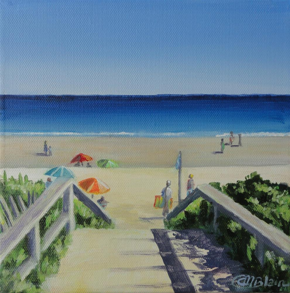 """Footbridge Beach, Ogunquit, Maine"" original fine art by Christine Blain"