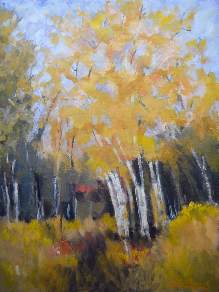 """""""Aspen Gold"""" original fine art by Pamela Gatens"""