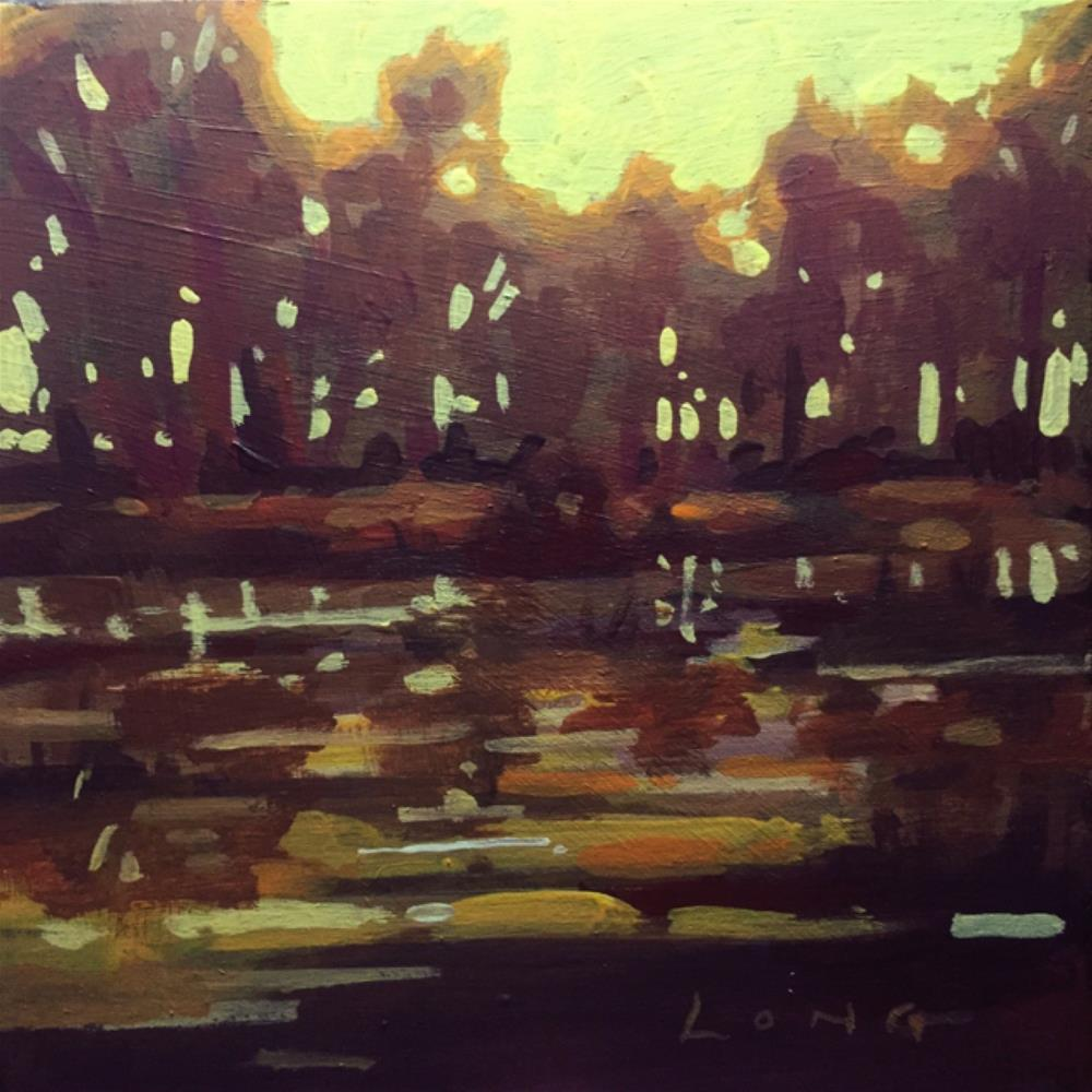 """Bayou Sunset VI"" original fine art by Chris Long"