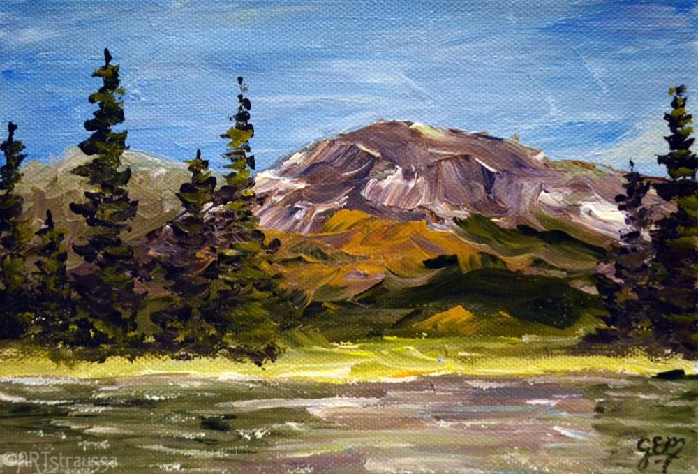 """Sparks Lake"" original fine art by Gloria Ester"