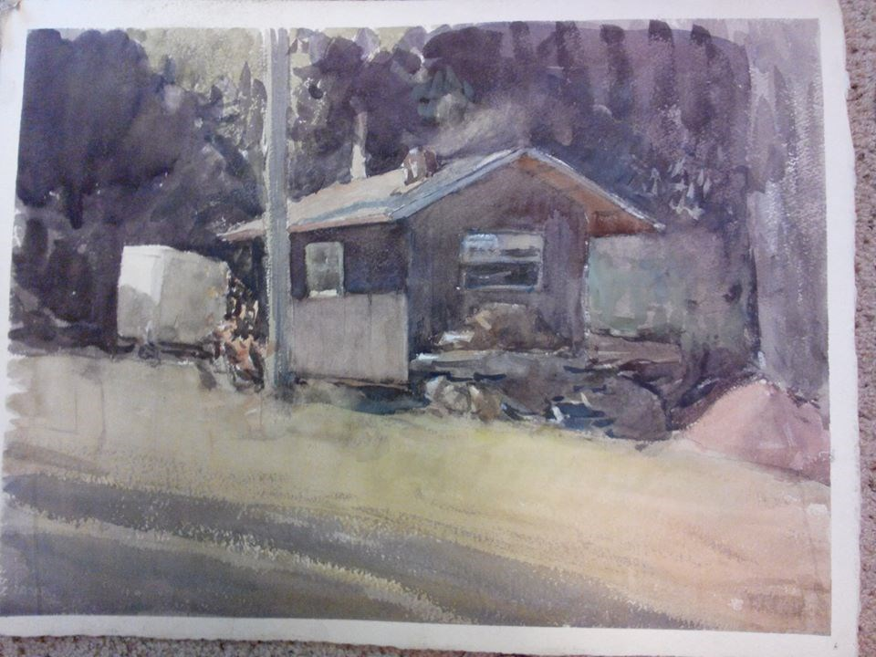 """Cabin"" original fine art by Nathan Sowa"