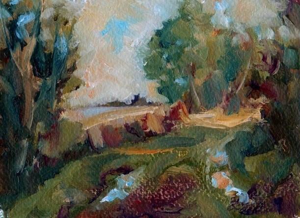 """""""Way Through"""" original fine art by Anne Wood"""