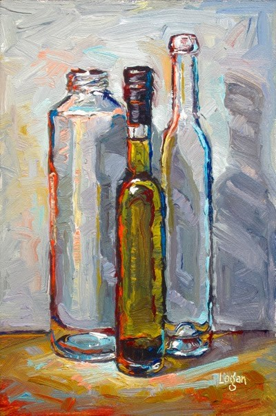 """Seasoned Olive Oil and Friends"" original fine art by Raymond Logan"