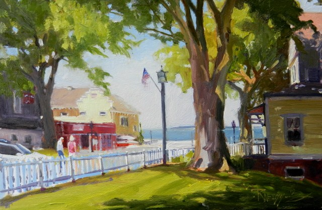 """Breakfast in Port Gamble plein air painting, by Robin Weiss"" original fine art by Robin Weiss"
