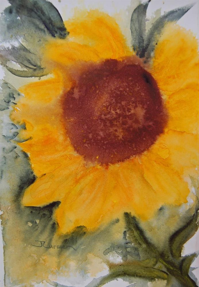 """Sunflower"" original fine art by Jean Lurssen"