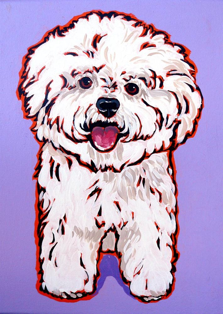 """Bichon Frise"" original fine art by Nadi Spencer"