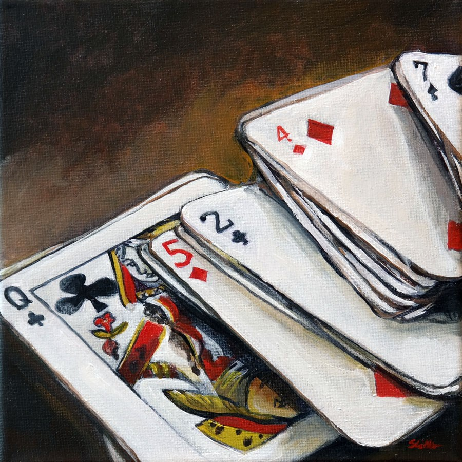 """1320 The Gambler"" original fine art by Dietmar Stiller"