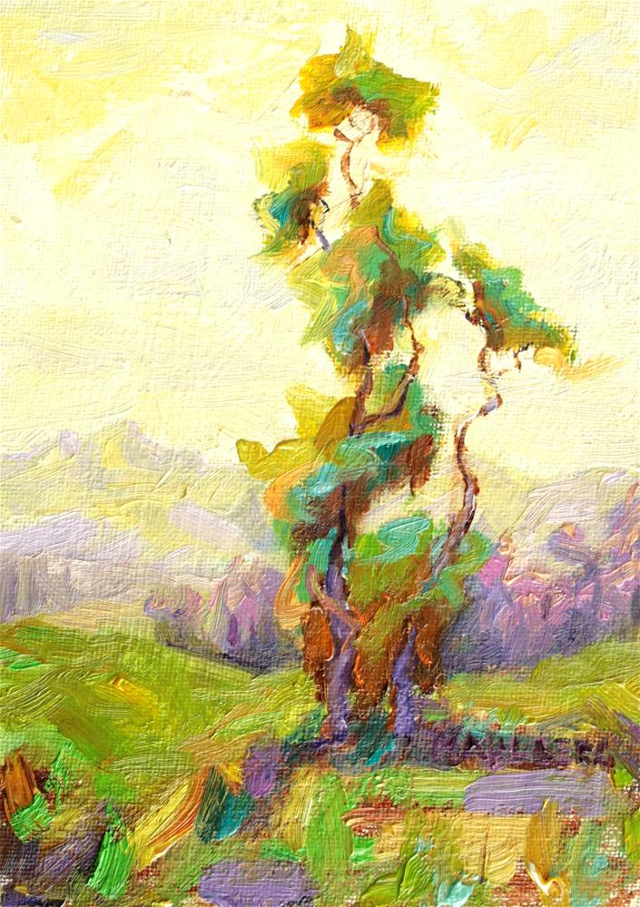 """Eucalyptus Yellow"" original fine art by Cynthia Mahlberg"