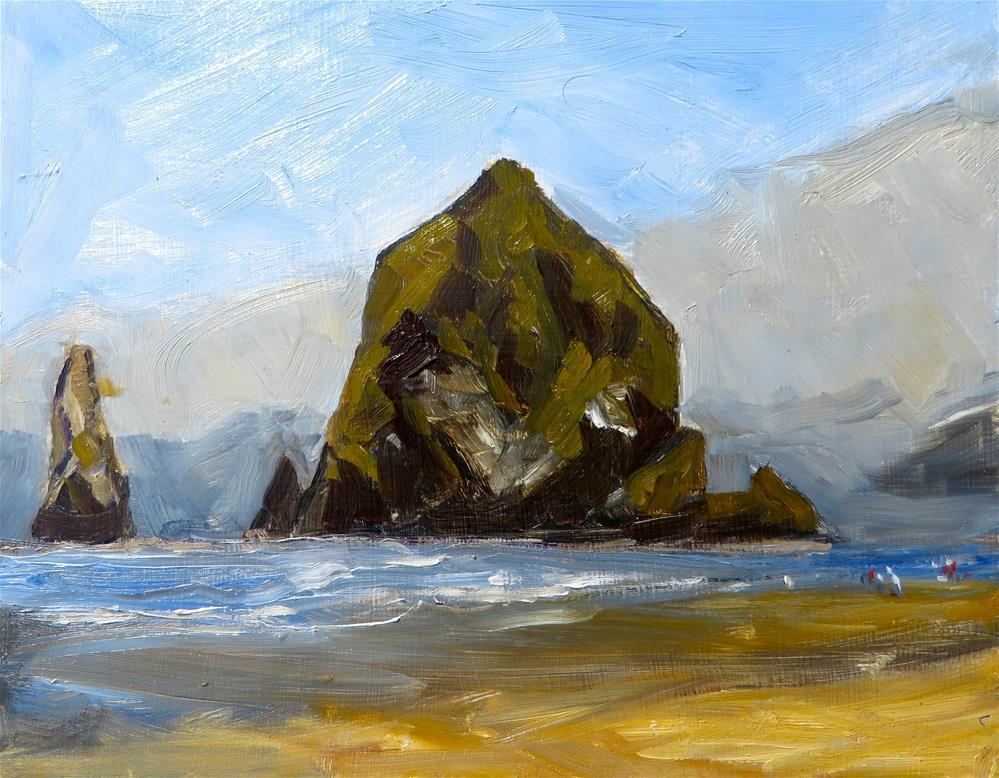 """Haystack, Cannon Beach, OR"" original fine art by Deborah Czernecky"