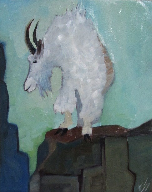 """Mountain Goat"" original fine art by Elizabeth See"