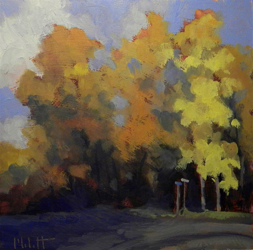 """Fall Color Lane Autumn Landscape Painting Heidi Malott"" original fine art by Heidi Malott"