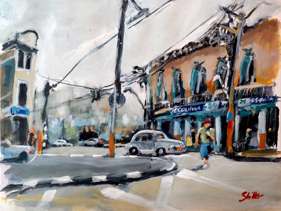 """""""1646 Una esquina en La Habana"""" original fine art by Dietmar Stiller"""