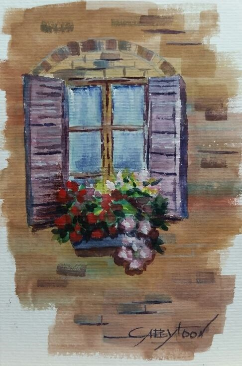 """Window"" original fine art by Gabriella DeLamater"