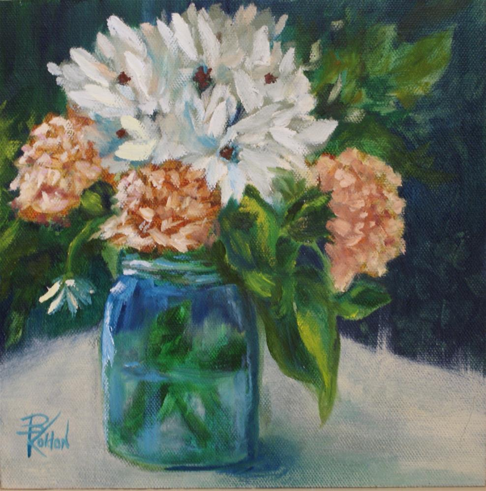 """Carnations and Daisies"" original fine art by Beverly Koldon"