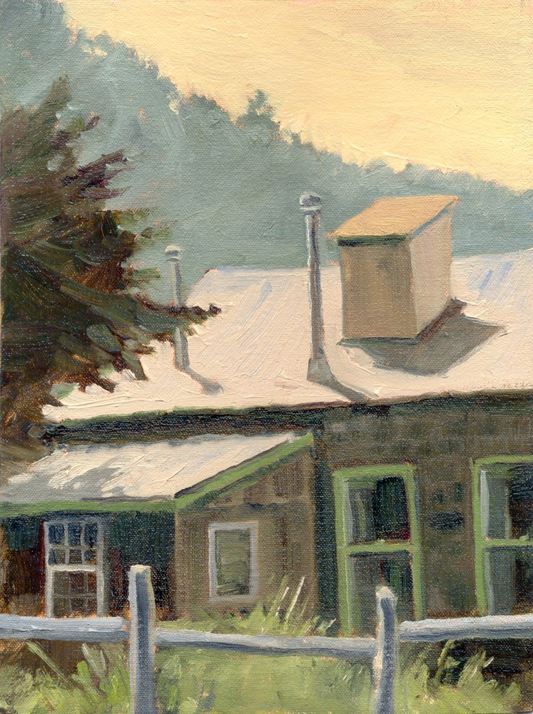 """Gold Hill House"" original fine art by Kath Reilly"
