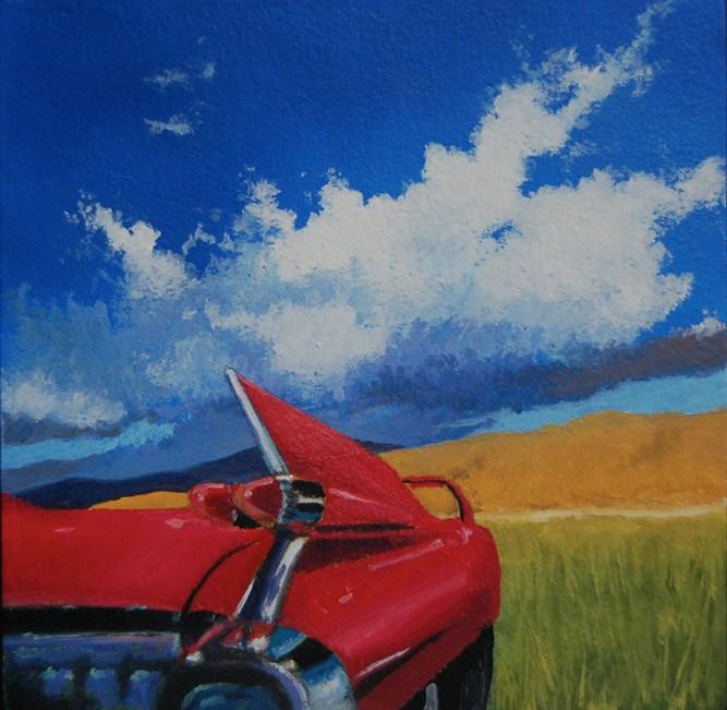 """""""59 CADILLAC"""" original fine art by Gerald Schwartz"""
