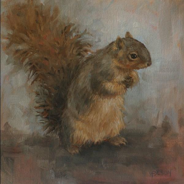 """""""chilly"""" original fine art by Priscilla Olson"""
