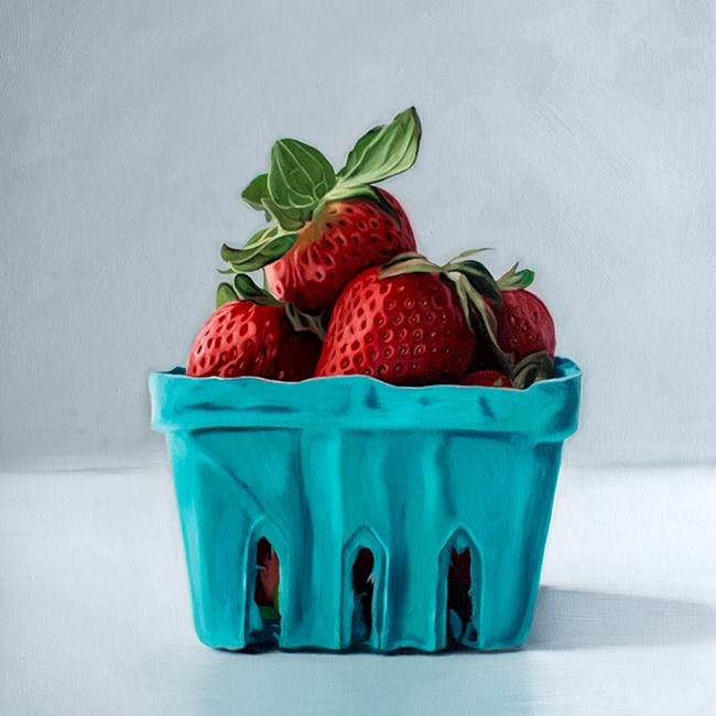 """Spring Strawberries"" original fine art by Lauren Pretorius"