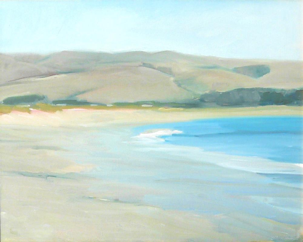 """Lonely Beach,seascape,oil on canvas,16x20,priceNFS"" original fine art by Joy Olney"