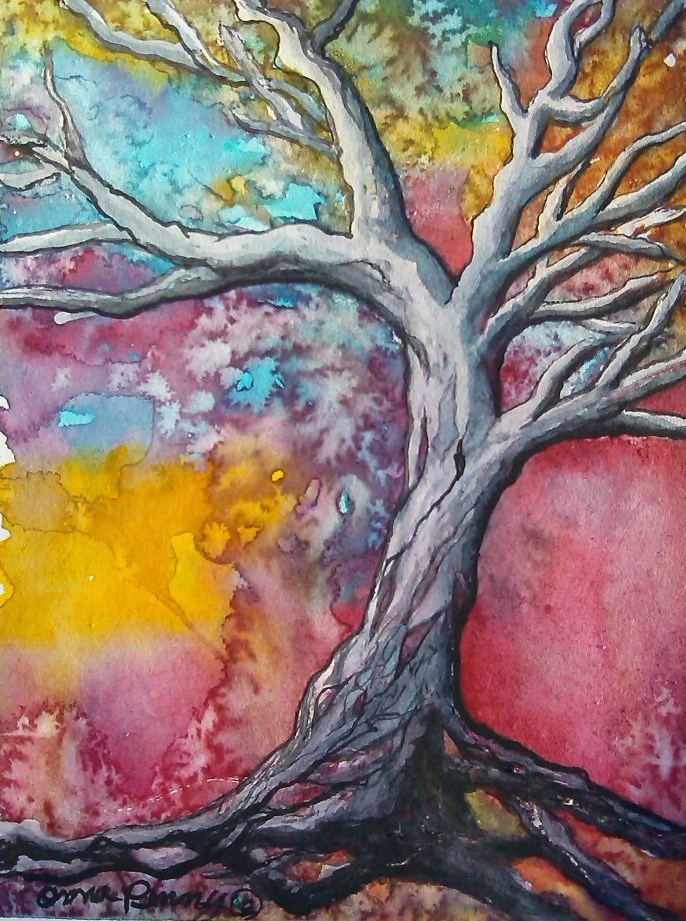 """The Tree"" original fine art by Anna Penny"