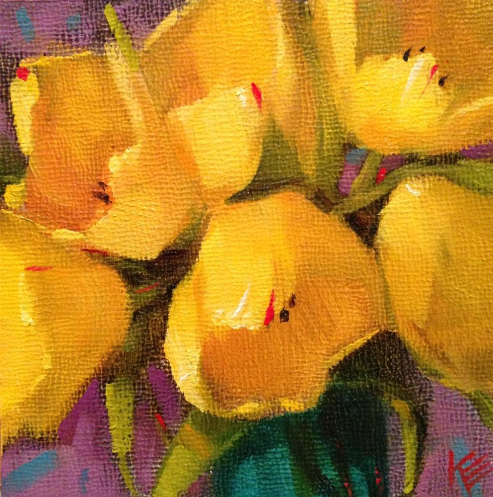 """Yellow"" original fine art by Krista Eaton"