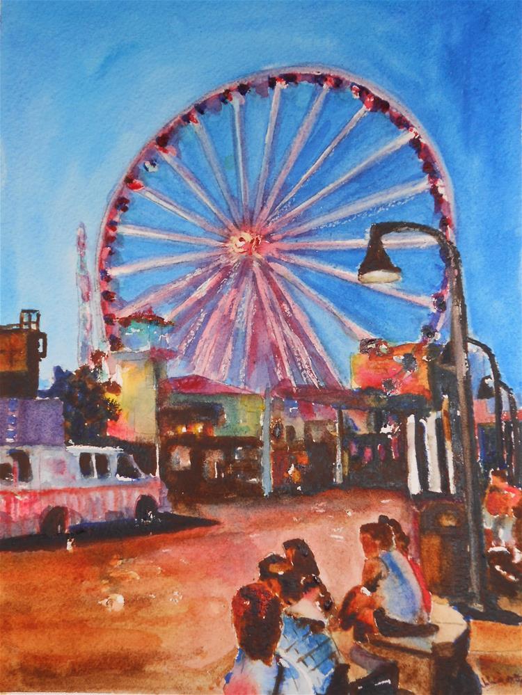 """Boardwalk Park"" original fine art by Juan Velasquez"