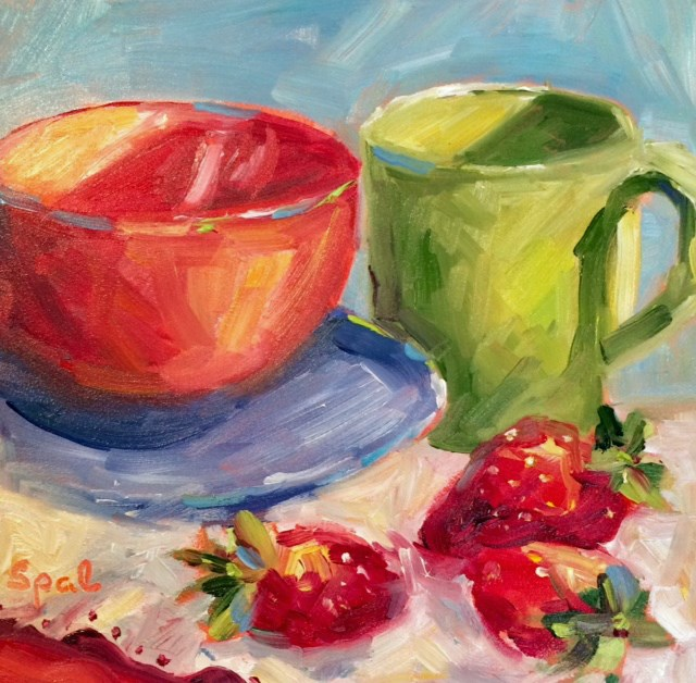 """Strawberries"" original fine art by Suzy 'Pal' Powell"