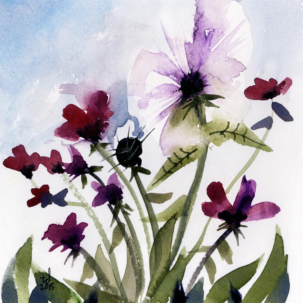 """Pansy"" original fine art by Tonya Doughty"