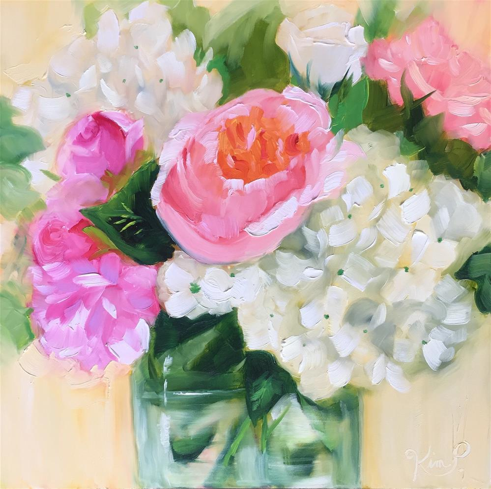 """Spring bouquet #3"" original fine art by Kim Peterson"