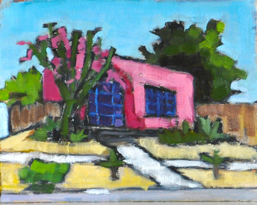 """Pink House in North Park San Diego"" original fine art by Kevin Inman"