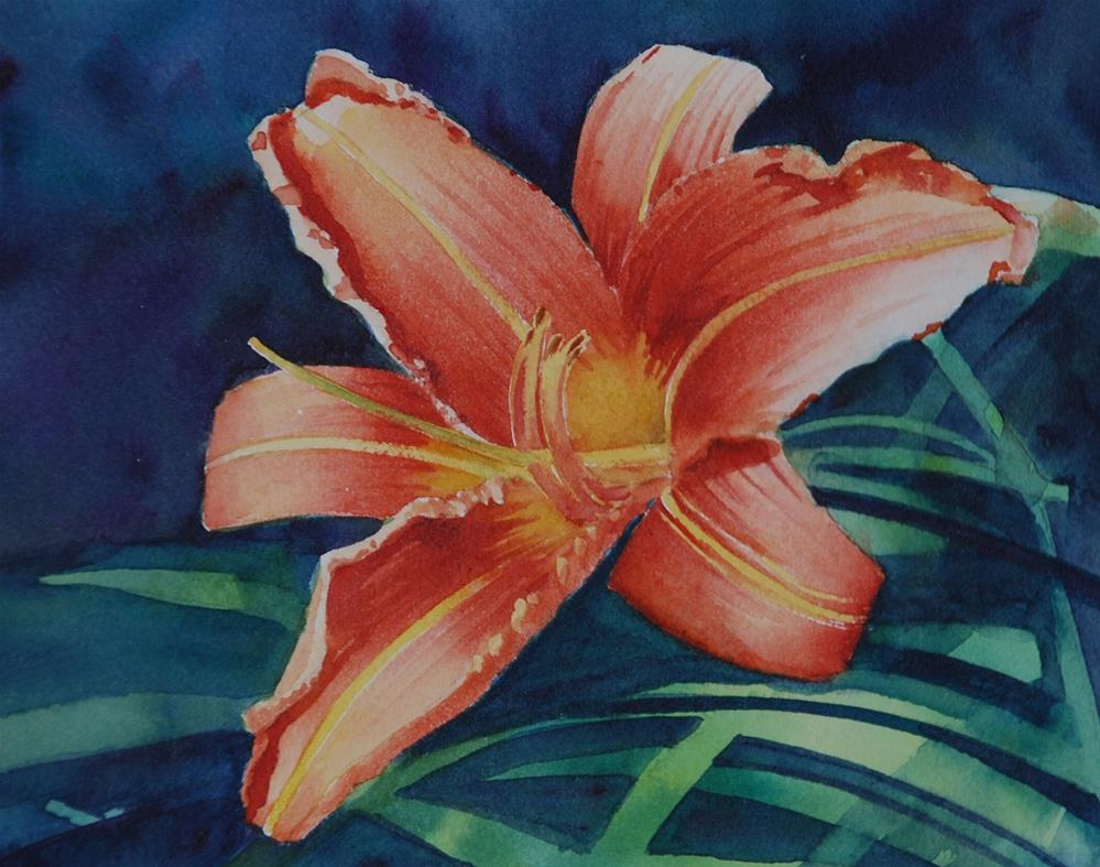 """Daylily"" original fine art by Mary Anderson"