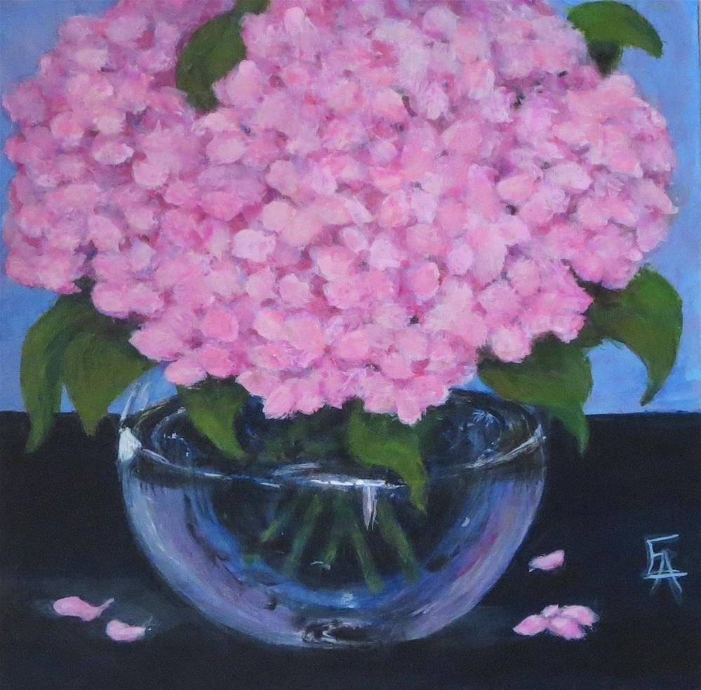 """Pink Hydrangeas"" original fine art by Elizabeth Elgin"