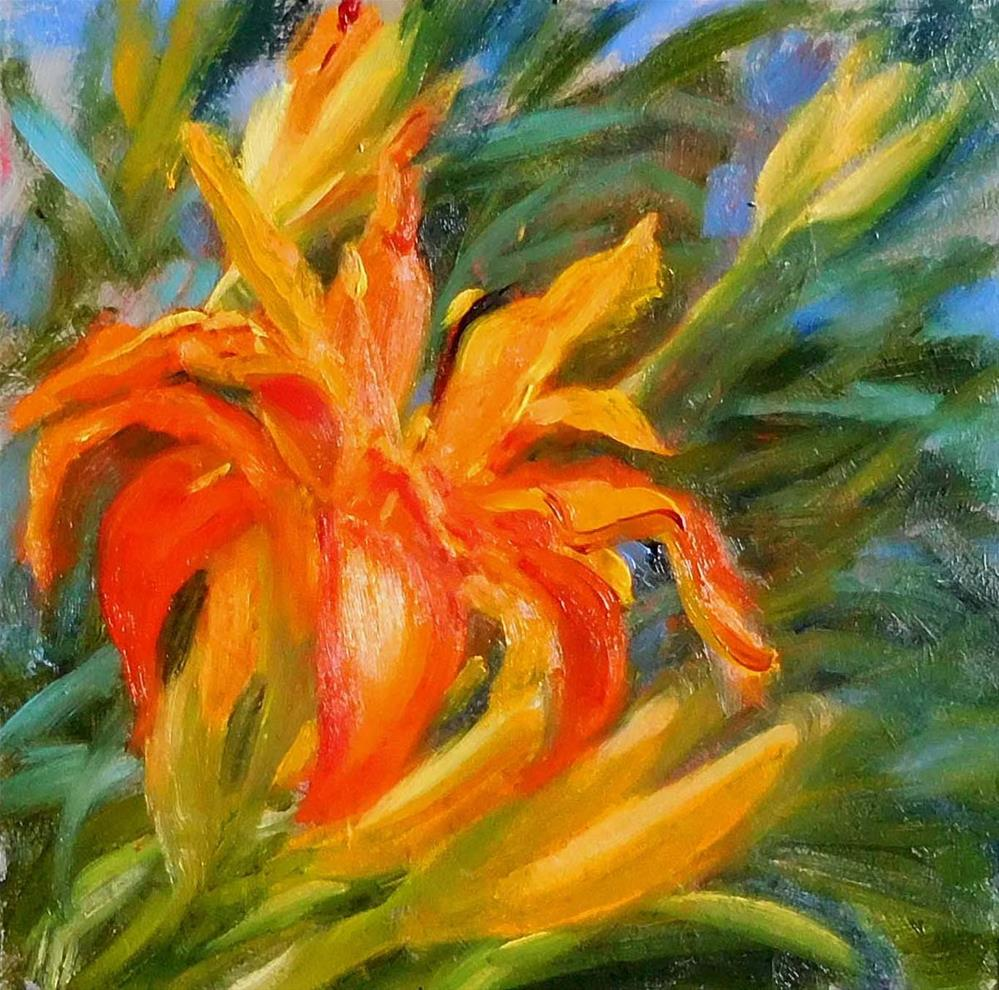 """First Day Lilies"" original fine art by Cietha Wilson"