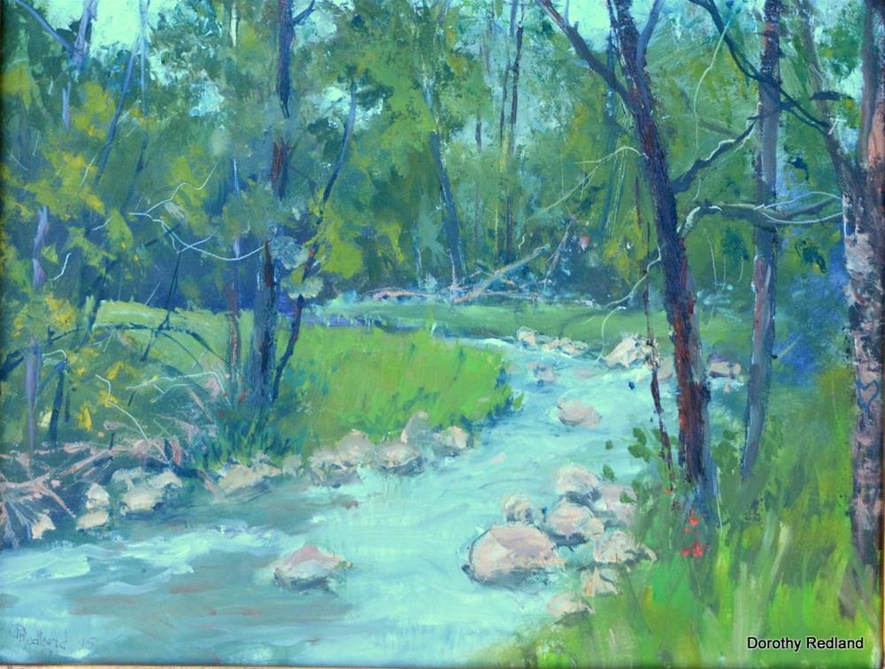 """Clearcreek"" original fine art by Dorothy Redland"