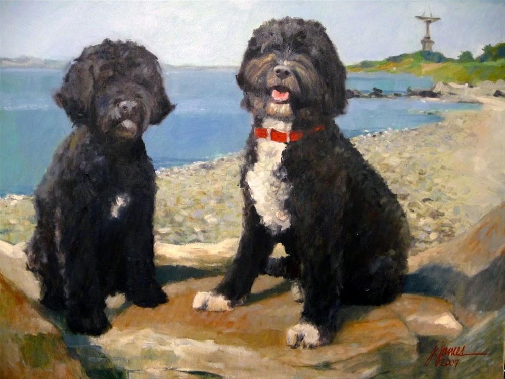 """Winston and Emma"" original fine art by Jini James"