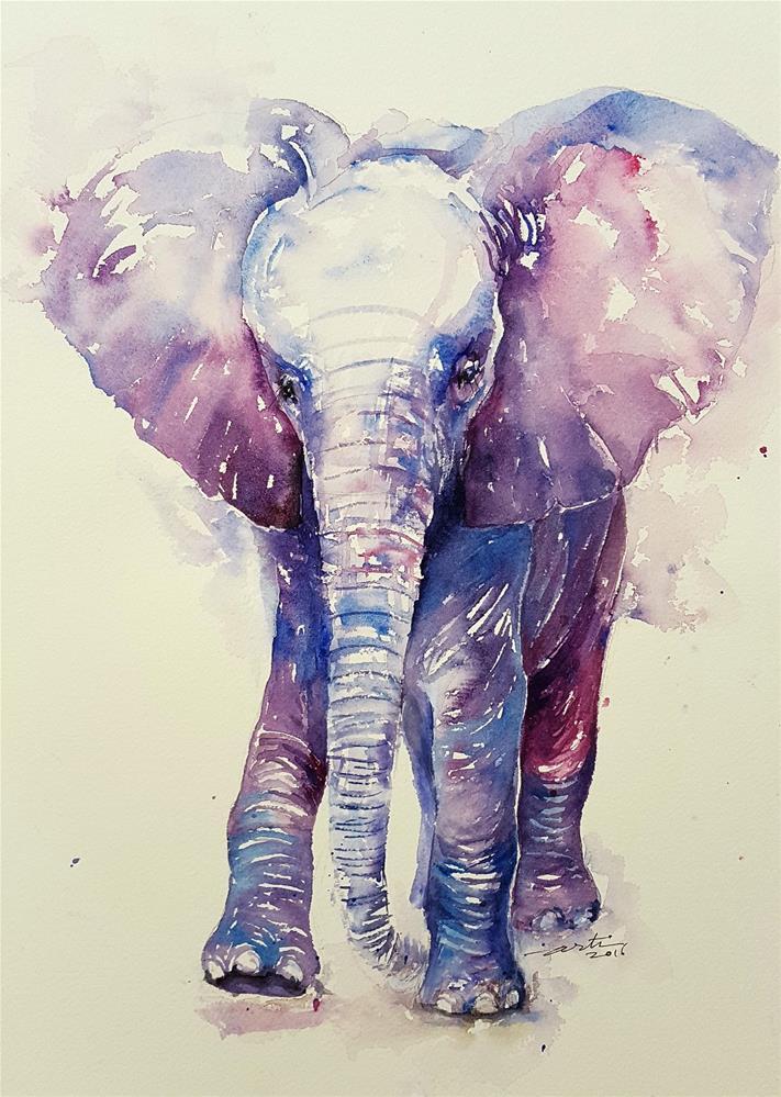 """""""Lit'l BoBo"""" original fine art by Arti Chauhan"""