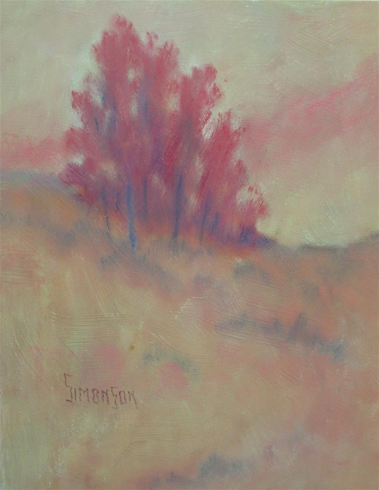 """Autumn Trees"" original fine art by Bev Simonson"