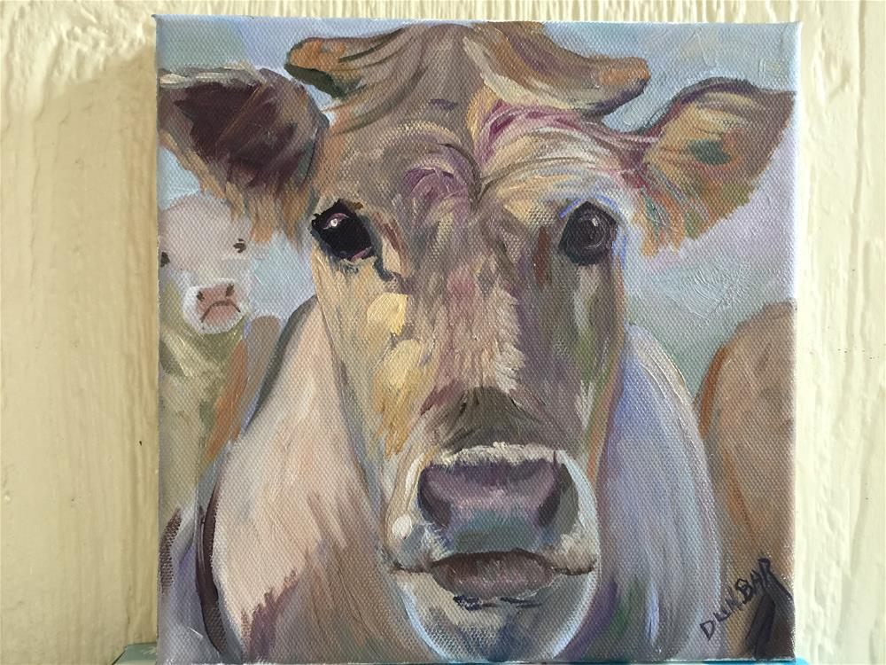 """""""Cow Eyes"""" original fine art by Linda Dunbar"""