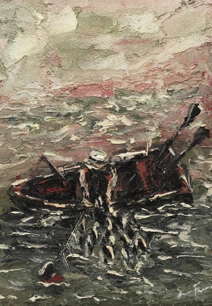 """Catch Of The Day"" original fine art by Ken Fraser"