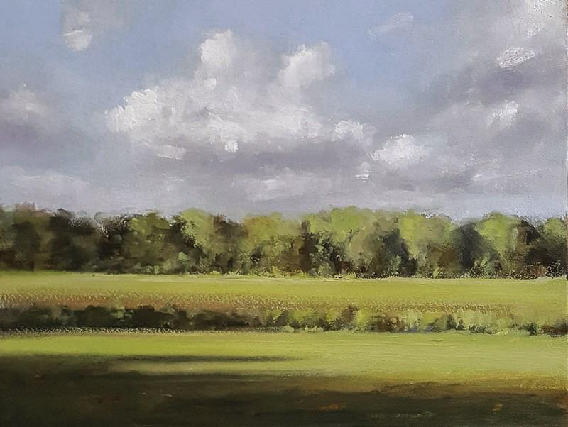 """Bedfordshire Morning"" original fine art by Neil Carroll"