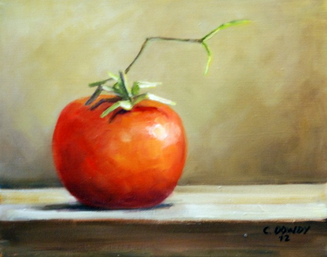 """Single Tomato"" original fine art by Christina Dowdy"